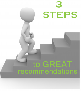 3 steps to great recs